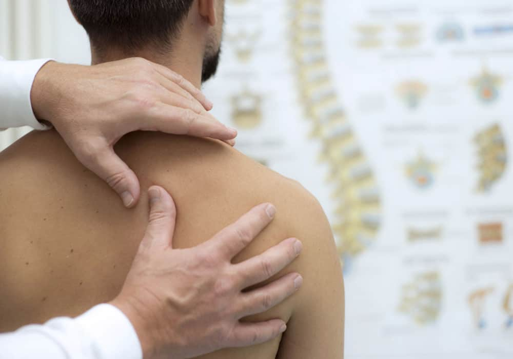 Chiropractic back adjustment